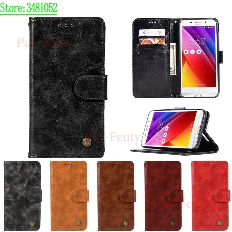 For ASUS ZC550KL Zenfone Max ZC550 ZC 550 KL 550KL Case PU Leather Phone Case for ASUS Z010D Z010DA ASUS_Z010D Case Cover Flip