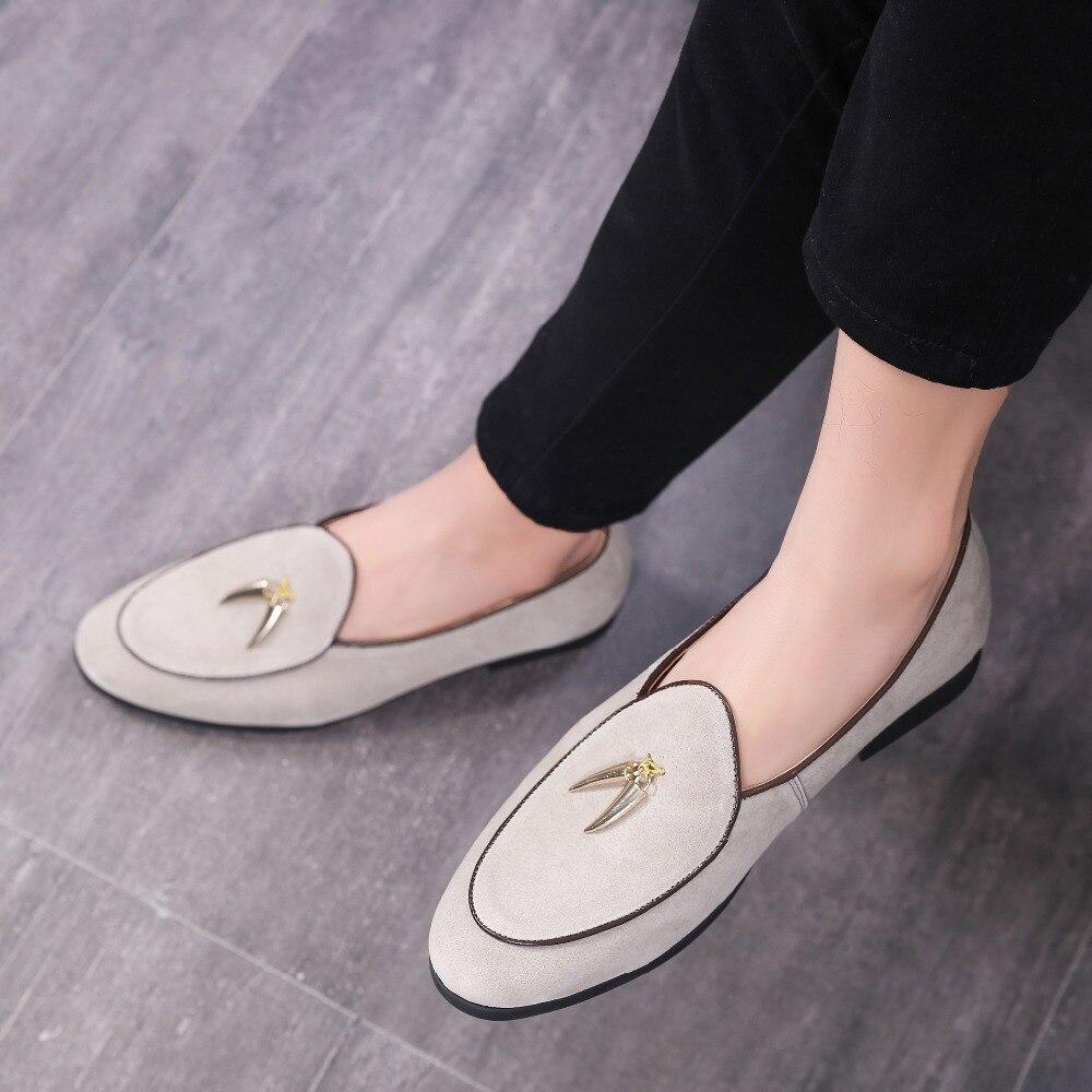 LAISUMK-أحذية دوغ للرجال ، أحذية أنيقة وعادية بنعل معدني ذهبي ، مقاس كبير