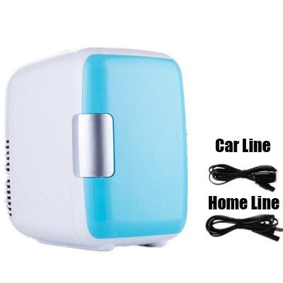Двойное использование 4L домашнего использования автомобиля холодильники мини-Холодильники Морозильник охлаждение, отопление коробка холодильник для косметики макияж холодильники