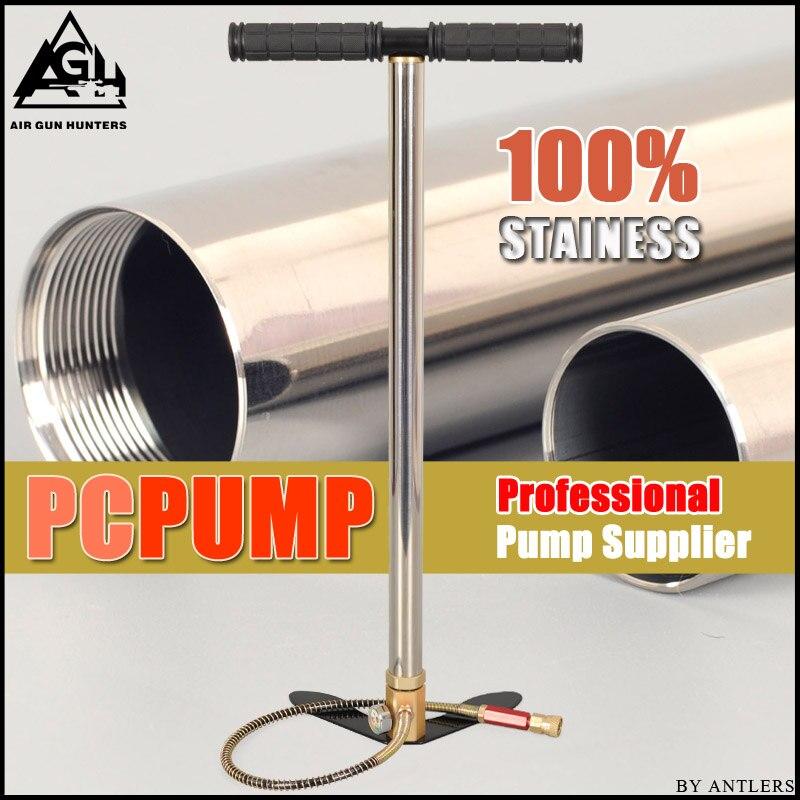 Bomba de aire de alta presión Pcp 4500PSI/30MPA, bomba manual de aire pcp de acero inoxidable para paintball, filtro de calibre de llenado de tanque de buceo