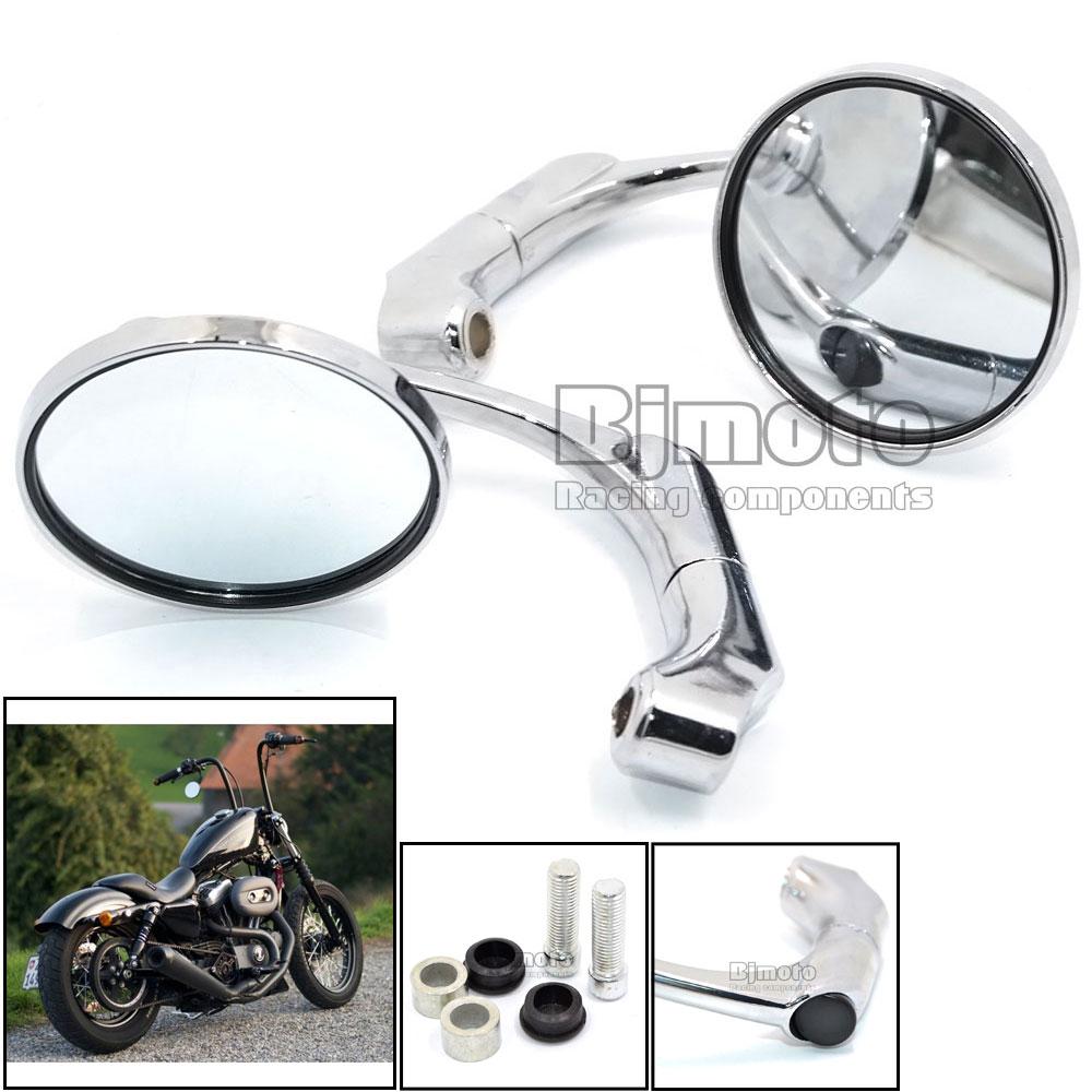 Aluminum M10 Universal Motorcycle Round Side Handlebar Rear View Mirror for Yamaha Kawasaki Honda Suzuki KTM Triumph Handle bar
