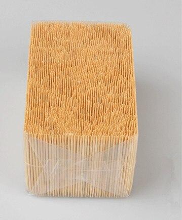 Супер-ценные Бамбуковые Зубочистки в оптовой упаковке, двойные или одинарные острые зубные палочки, натуральные зубные палочки 1,6*65 мм, 3500 ш...