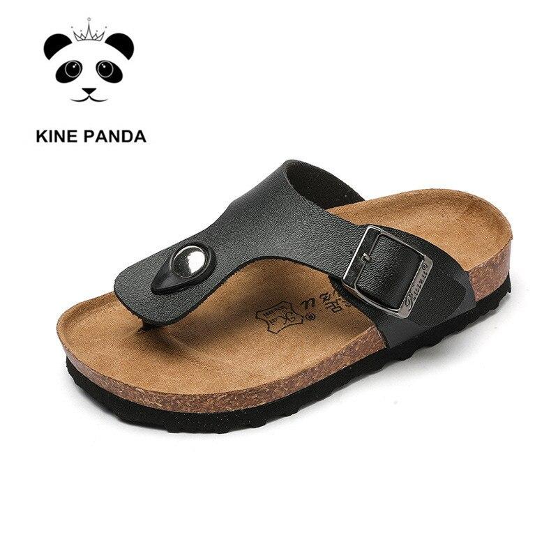 KINE-شبشب من الفلين للأطفال ، باندا ، شبشب للأولاد والبنات ، أحذية لأطفال المدارس ، مقاس كبير 2 ، 4 ، 6 ، 8 ، 10 ، 12 و 14 سنة