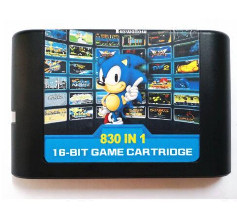 Ultimate 830 in 1 EDMD Remix oyun kartuşu için abd/japon/avrupa SEGA GENESIS MegaDrive konsolu