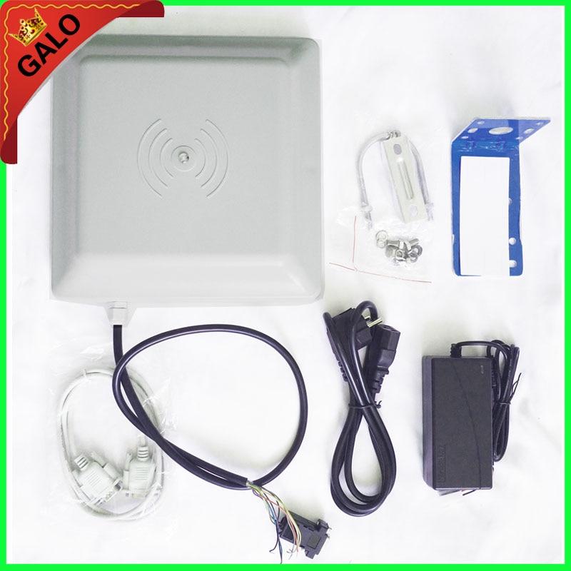 Sistema de Controle de acesso de 860 ~ 960 mhz uhf de longo alcance leitor rfid passiva para soluções de estacionamento com 10 pcs tag impressão digital com sdk livre