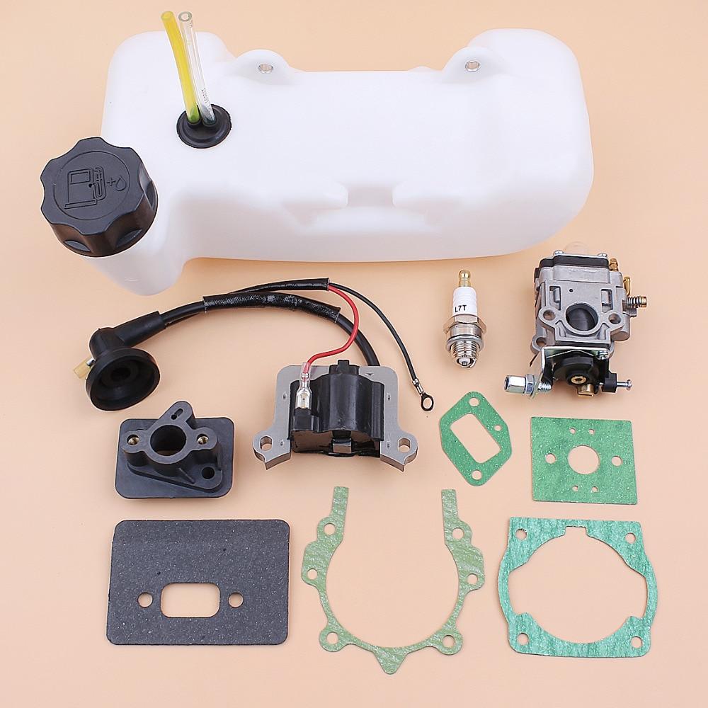 Карбюратор катушка зажигания топливный бак 43CC 52CC 47CC 40-5 CG430 CG520 1E40F-5 40F-5 TL43 кусторез для щеток бак среднего рта