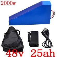 Batterie 48V 48V 25AH batterie au Lithium 48V 1000W 2000W batterie ebike batterie 48V 25AH batterie de vélo électrique avec chargeur 50A BMS + 5A + sac