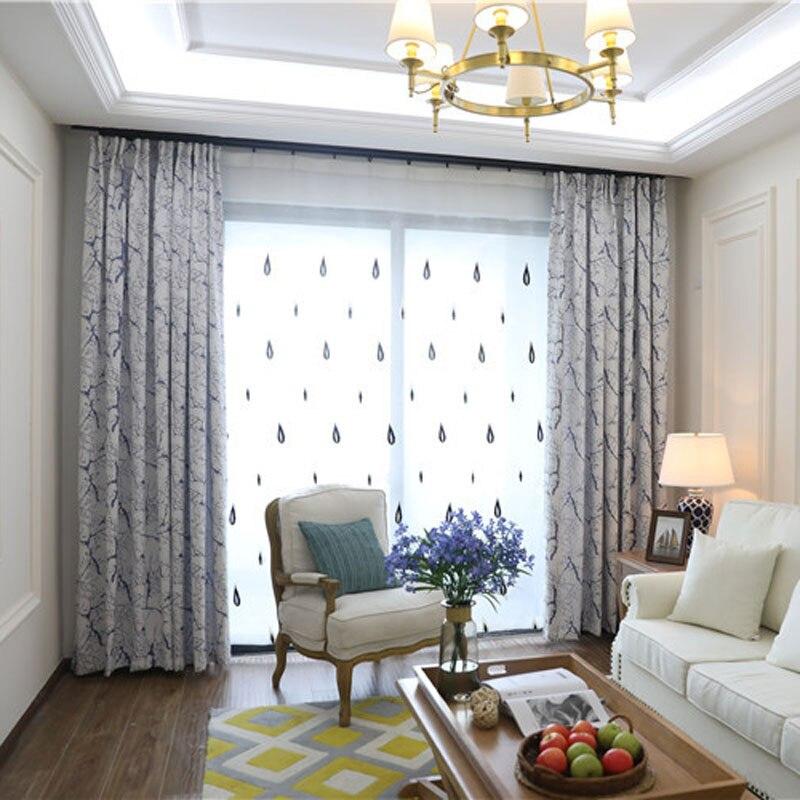 DSinterior классический дизайн Европейский стиль жаккардовые затемненные шторы и тюль на заказ занавески для спальни 0113