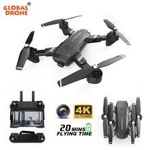 Global Drone GW06 4K Camera Drones met Camera HD Optische Stroom Follow Me RC Helicopter Quadrocopter Dron VS M69 m70 E58