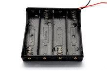 Hot 18650 batterie mallette de rangement en plastique stockage support de la boîte avec fils pour 4x18650 3.7 V Batteries pour soudure connexion