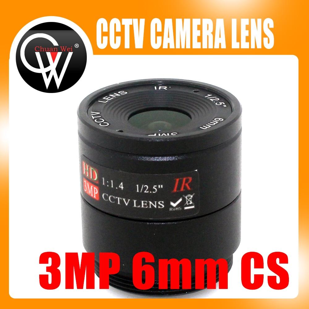 Камера видеонаблюдения, 2 шт., объектив 6 мм, 3 Мп, CS, HD, для дня и ночи, CCD, бесплатная доставка
