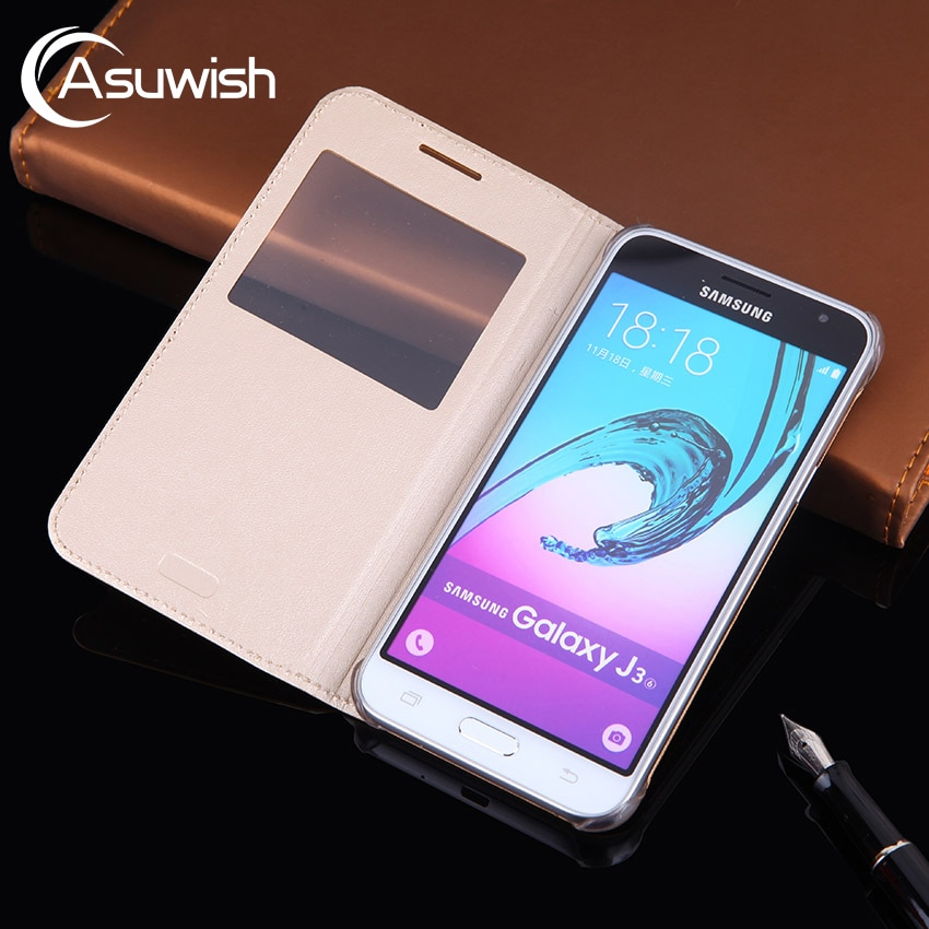 Чехол-раскладушка кожаный чехол для телефона для samsung Galaxy J3 2016 GalaxyJ3 J 3 SM J320F J320FN J320H J302M SM-J320F SM-J320FN SM-J320H