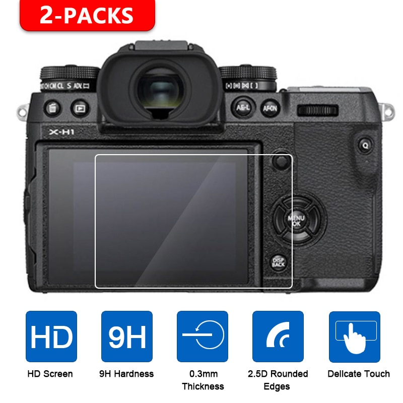 2Pcs Vidro Temperado Protetor de Tela para Fujifilm X-T1 X-T2 X-T3 X-H1 X-T100 X-T20 X-T10 XF10 X-E3 X70 X-Pro2 X-Pro1 X100T X100F