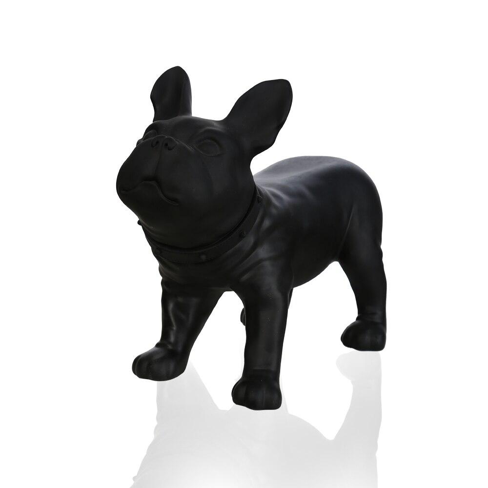 Plastic Black French Bulldog / Dog Model Mannequin For Display