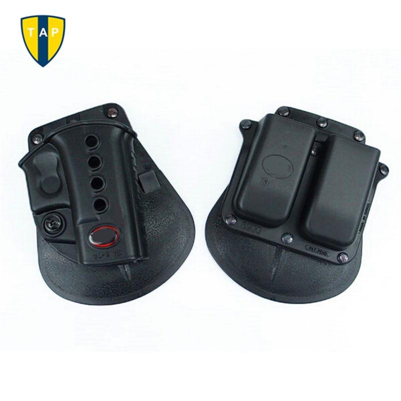 Pistola táctica de Airsoft militar, funda GL2 BR2 SG21 1911, GL2-ND, bolsa negra de doble revista, esposas CU9G