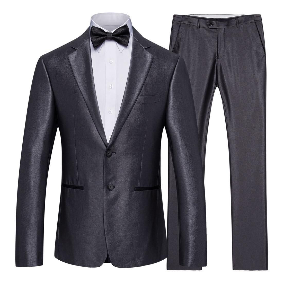 XF005 جديد 2019 ملابس الرجال 2 قطعة دعوى الأعمال دعوى وصيف العريس الزفاف الذكية السببية رجل الدعاوى