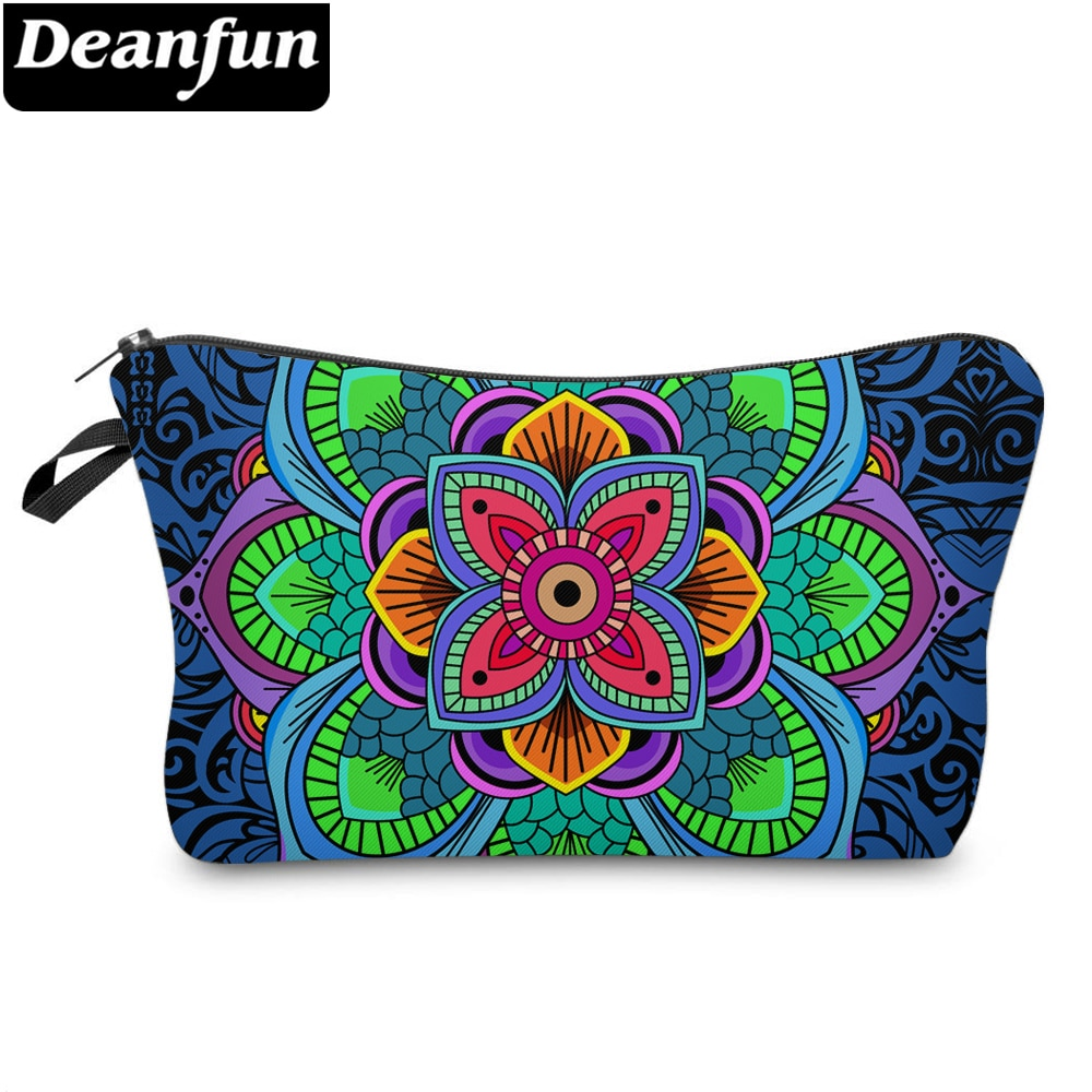 Косметички Deanfun с 3D рисунком, красочные цветы дурмана, модная Женская дорожная сумка для хранения, 51295