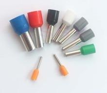 Connecteur de fil tubulaire électrique E2510   100 pièces, bornes électriques, câble à sertir, mèches de fil pour 0,5mm2, terminal électricos VE2510