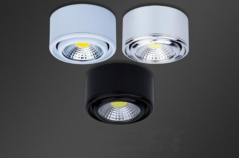 10 قطعة/الوحدة سطح شنت 3 واط LED النازل مصابيح السقف cob led بقعة أضواء تركيبات السقف الإضاءة الأبيض