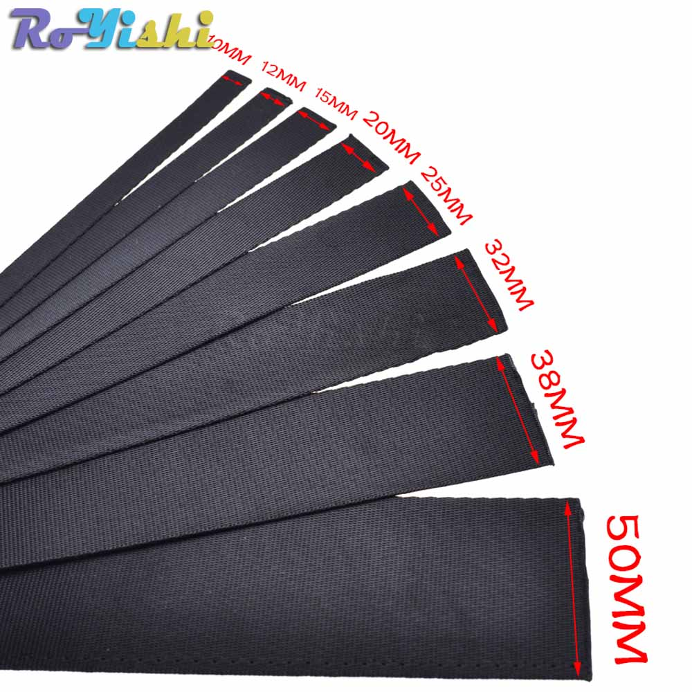 1 yard Polyester Fibre Webbing Ribbon Band Strap Tape Dog Collar Harness Outdoor Backpack Bag Parts