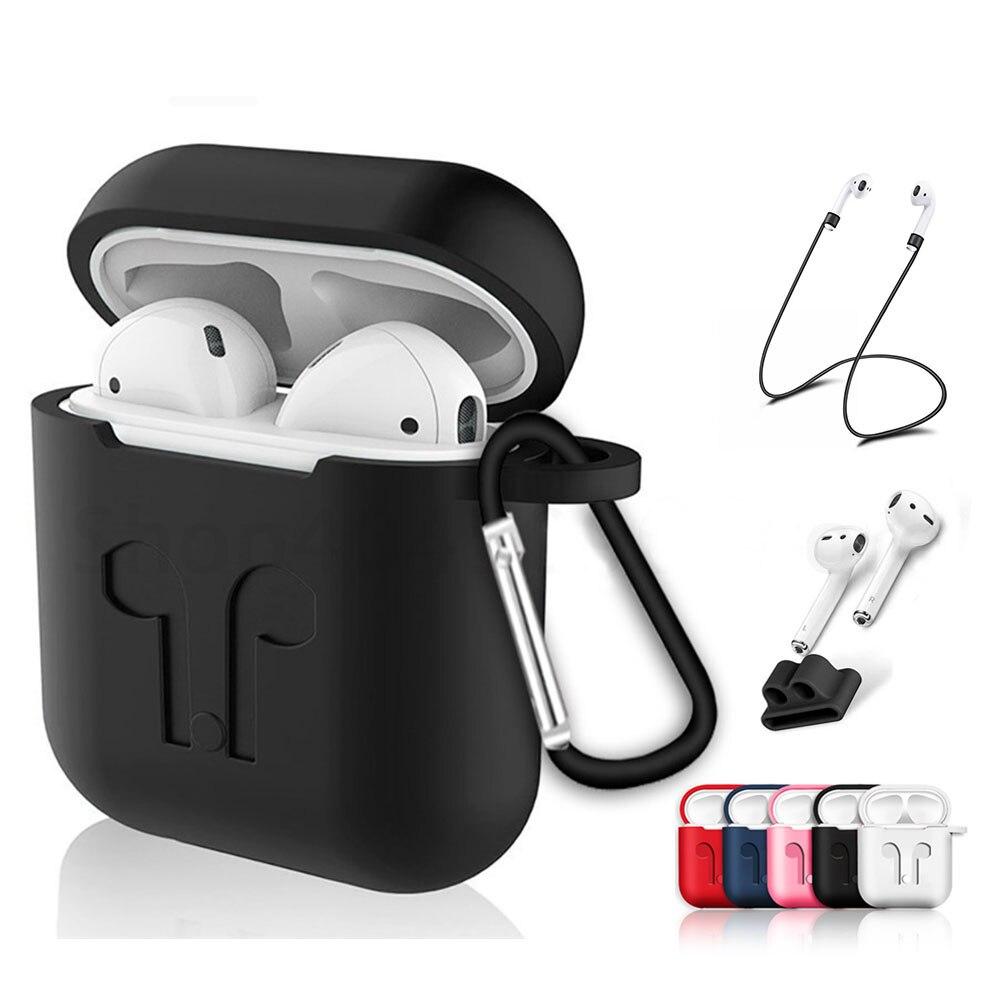 1 Uds TPU de silicona auriculares Bluetooth con carcasa para los Airpods a prueba de golpes auriculares cubierta protectora para los Airpods de Apple caja de carga