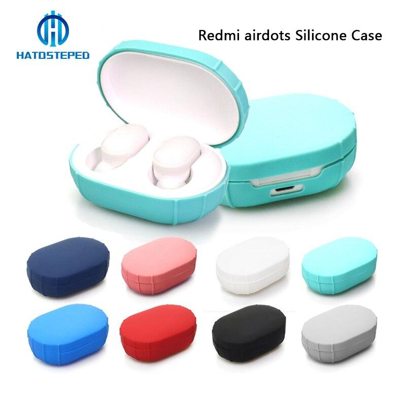 Funda de silicona para Xiaomi Mi Redmi AirDots, Mini auricular inalámbrico Verdadero/Redmi AirDots funda protectora de carga