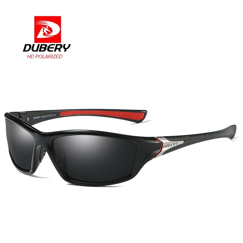 DUBERY Polarized Night Vision Sunglasses Men's Driving Sun Glasses For Men Square Sport Brand Luxury Goggles Shades Oculos