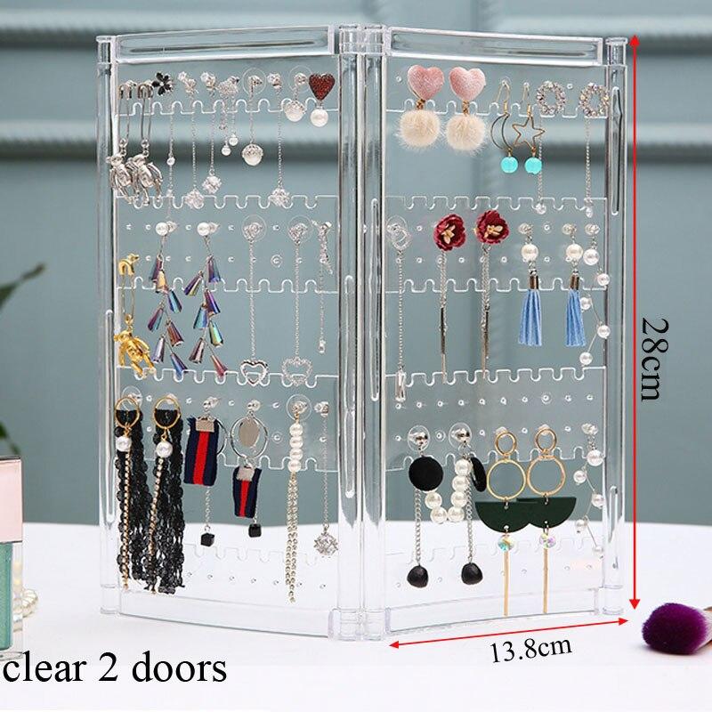 NewTop, venta de plástico transparente, diseño de puertas de almacenamiento de pendientes, bonita joyería, soporte colgante, estante, acrílico, soporte para presentación de joyería, pendientes
