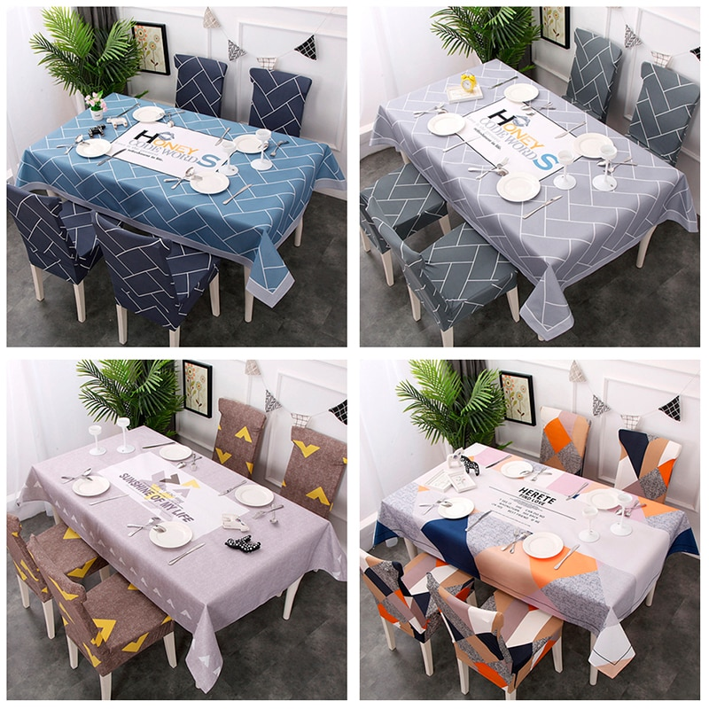 Mantel de estilo nórdico a prueba de agua rectangular para el hogar, cocina, manteles para fiesta, banquete de cena, cubierta decorativa para mesa