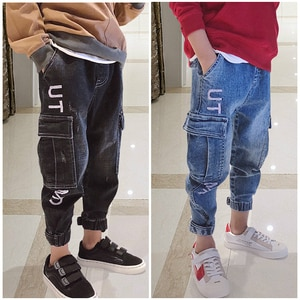 2019 New Children's jeans, Fashion Boy's jeans with spring autumn Jeans boys. Suitable for age: 3 5 7 8 10 12 14 years old.