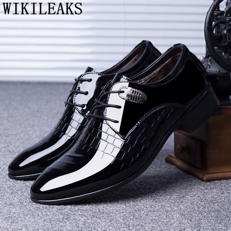 Italian Oxfords Formal Shoes Men Oxford Shoes For Mens Dress Shoes 2020 Wedding Mans Shoes Derbi Calzado Hombre Erkek Ayakkabi