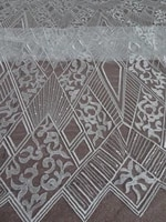 sequins lace fabric with embroidery zh 32277 tulle mesh french net lace fabric high quality
