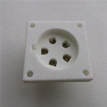 Douille de tube en céramique   3 pièces, douille de tube à 5 broches, pied en argent pour amplificateur de tube Aa/Ba/Cd/Da