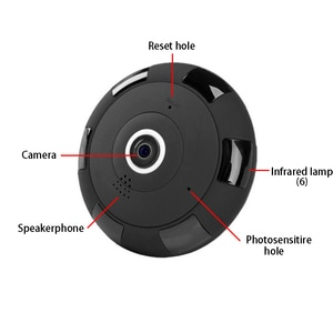 Motion IP Camera New 960P 1080P Fisheye Panoramic 360 Degree 1.3MP 2MP  Two-Way Audio  with 64GB TF Card security system