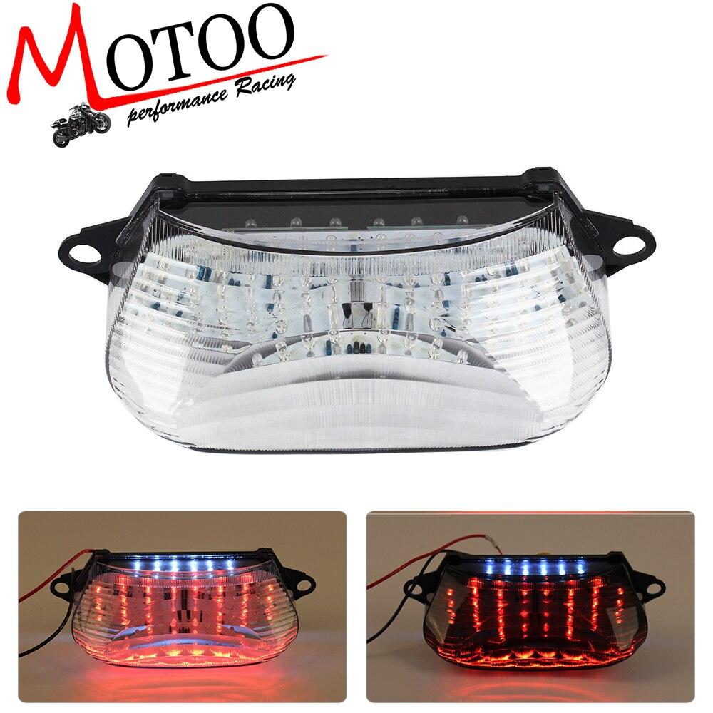 Motoo-Envío gratis motocicleta LED Freno de cola intermitente luz integrada para HONDA VTR1000 1997-2005