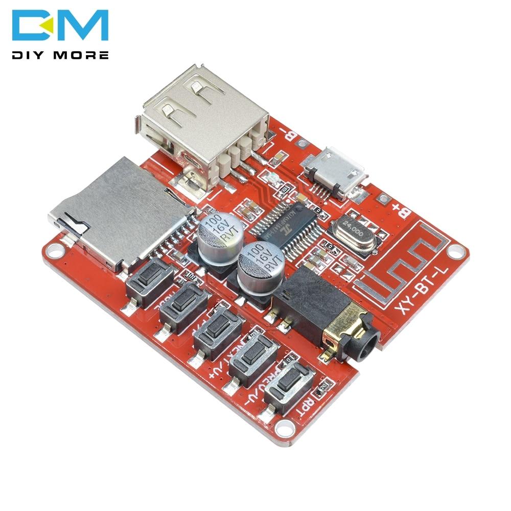 Mini Wireless MP3 Decoder  Bluetooth BLE 4.1 Board Circuit Module Lossless Decoding Micro USB U Disk TF Card Interface 3.7v 5v