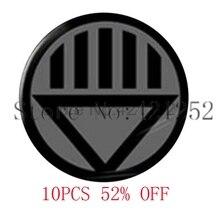 Lanterne noire Corps Logo pendentif collier porte-clés signet bouton de manchette boucle doreille