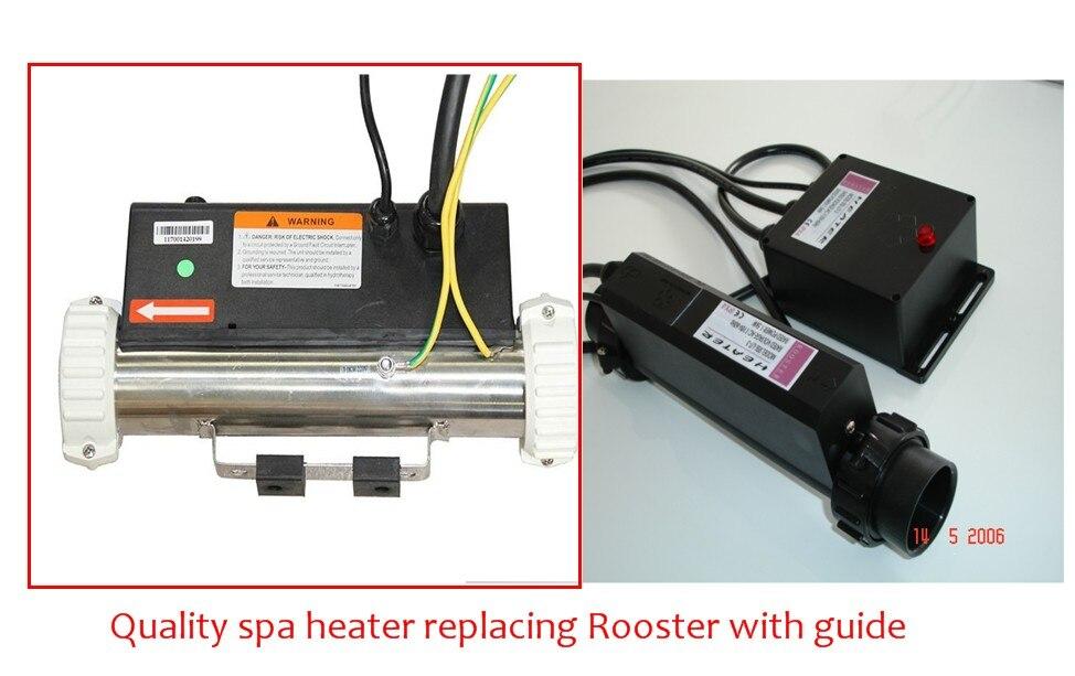 جودة حوض استحمام ساخن سخان سبا 3KW مستقيم أنا نوع سخان الديك RSL-L/T-3