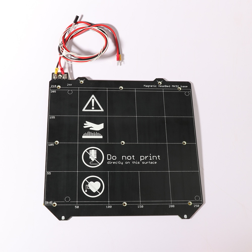 3d מדפסת חלקי שיבוט Prusa i3 3d מדפסת מחומם מיטה מגנטי MK52 Heatbed 24 V/12 V הרכבה