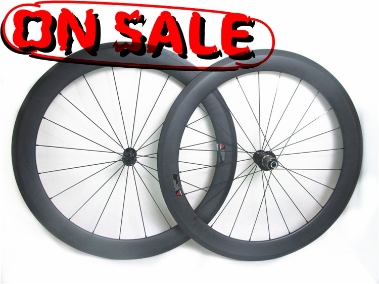 Farsports FSC60-CM-25T 700c carretera carbono Tubeless bicicleta 60mm Juego de ruedas