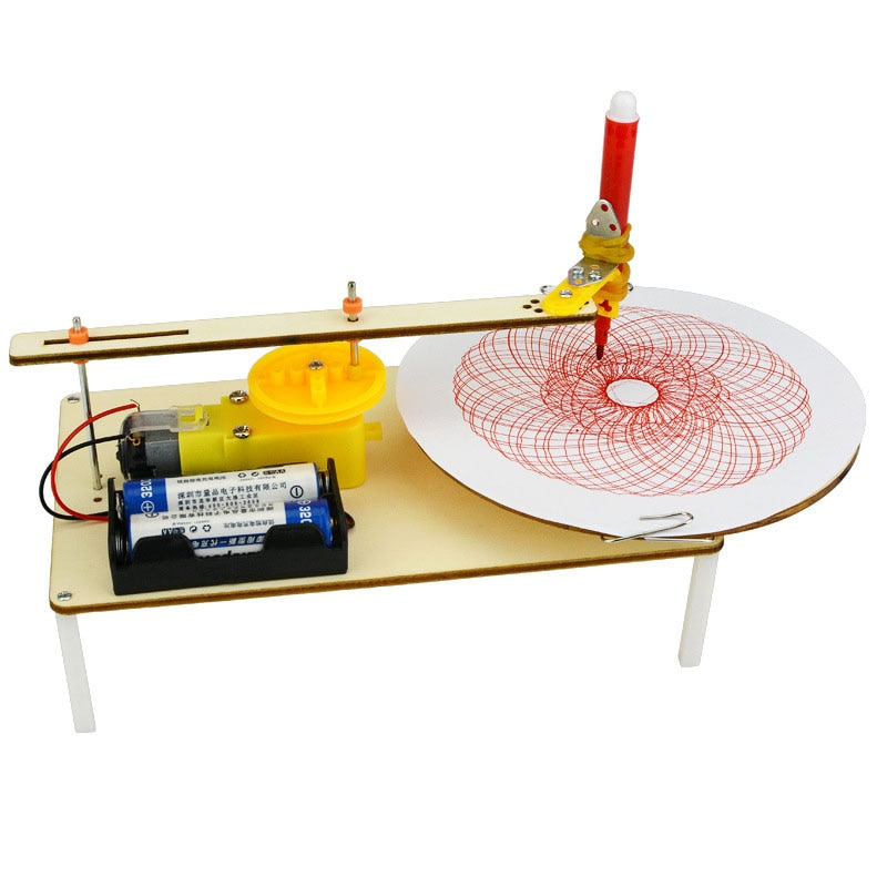 Juego de rompecabezas DIY creativo para niños hecho a mano juguete de grafiti ciencia Simple Gizmo física experimento recursos Plotter eléctrico