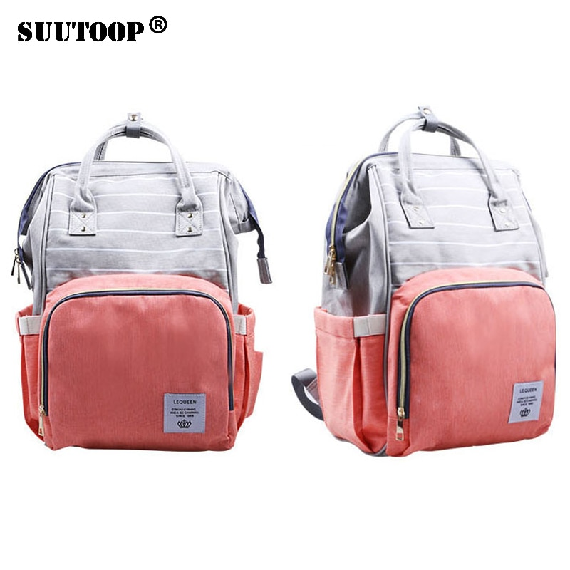 Сумка для подгузников Lequeen, с защитой от кражи, для мам, для мам, рюкзак для подгузников, коляска, органайзер для ухода за ребенком, сумка для с...