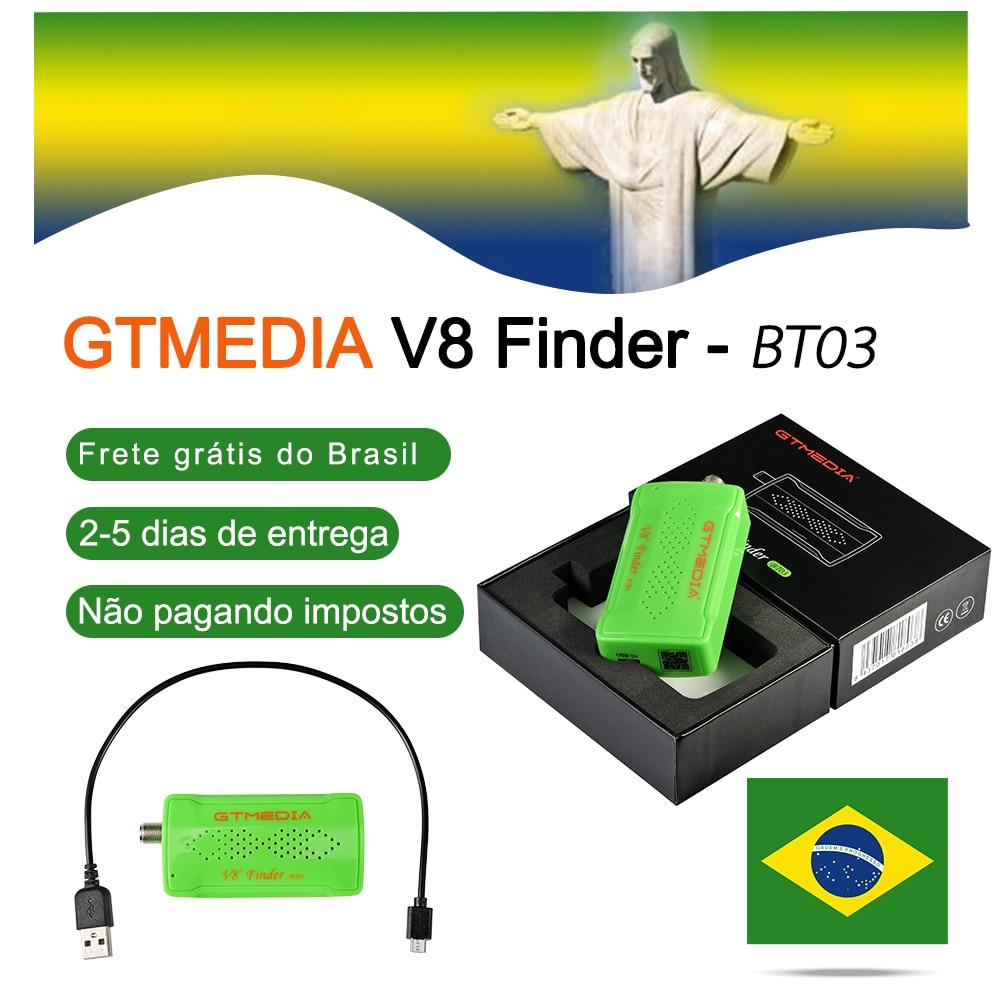 GTMEDIA Mini wizjer satelitarny Bluetooth DVB-S2 V8 finder BT03 Satfinder obsługuje System Android ios i telefon dla HD 1080p