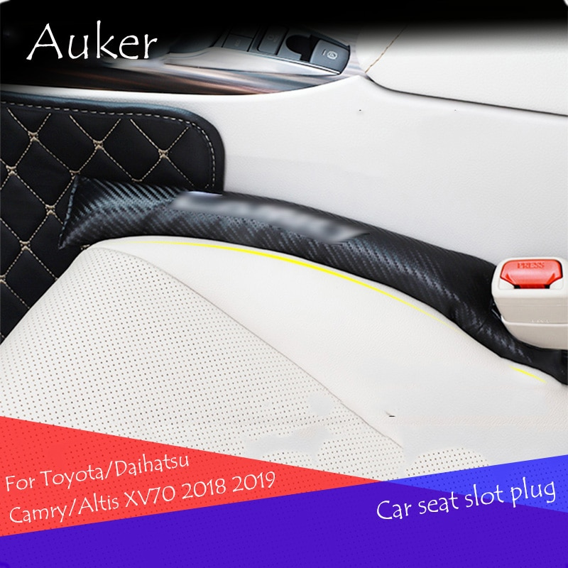 Cojín de ranura para asiento de coche, tapón de grietas, funda protectora a prueba de fugas Pad 2 unids/set para Toyota/Daihatsu Camry/Altis XV70 2018 2019