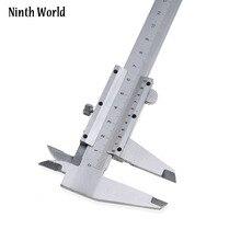 Neuvième monde Vernier pied à coulisse 0-150mm 0.02mm 6 pouces en acier à haute teneur en carbone métrique micromètre jauges de profondeur avec boîte NWR09