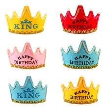 Decoraciones de corona, fiesta, corona de Príncipe Princesa, fiesta de cumpleaños de 3 velocidades LED con iluminación, gorros ligeros, gorro, Tiara para niños y adultos