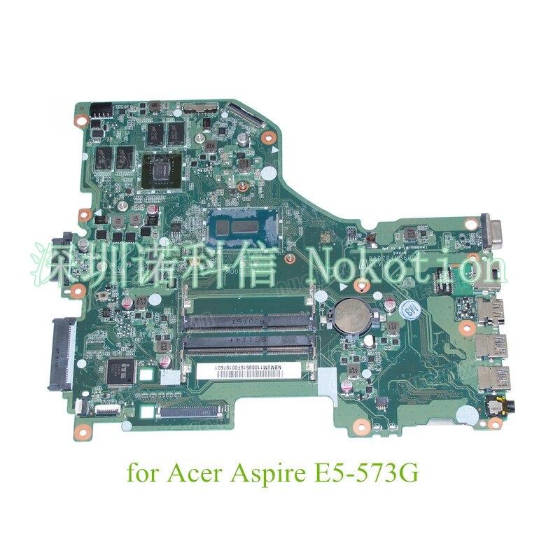 NOKOTION DA0ZRTMB6D0 NBMVG11003 NB.MVG11.003 NBMVM11003 لشركة أيسر أسباير E5-573G اللوحة الأم للكمبيوتر المحمول i5-5200U + GeForce 920 متر