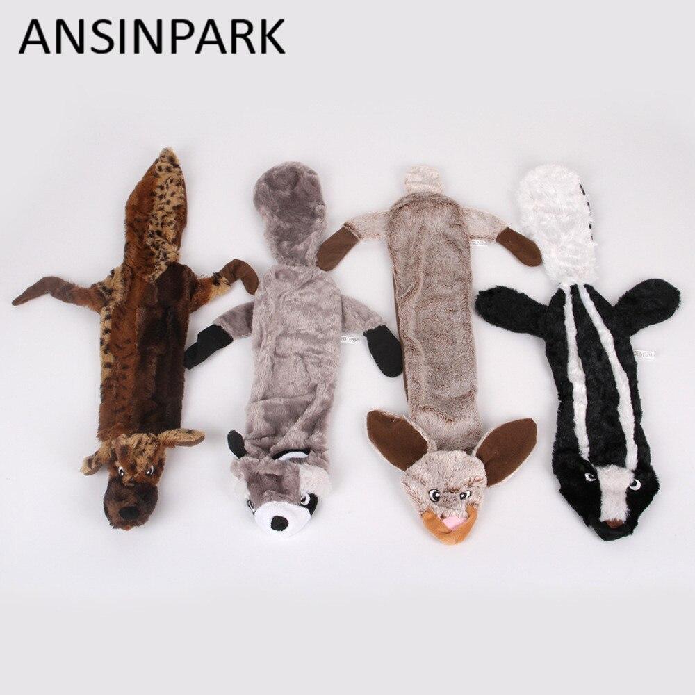 ANSINPARK, juguetes bonitos de felpa, juguete chillón para mascotas, Lobo, conejo, peluche, perro para masticar con chirrido silbante, juguetes para perros, ardilla, g888