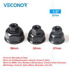 Гаечный ключ Veconor для масляного фильтра, инструмент для снятия корпуса с 6 канавками, привод 27 мм, 32 мм, 36 мм, 1/2 дюйма