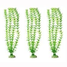 Décoration daquarium en plastique   Plantes aquatiques artificielles sous-marine, ornements de réservoir deau de 30cm décoration de poisson en eau
